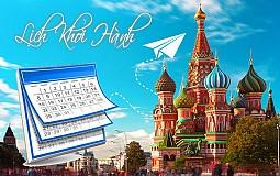 Lịch Khởi Hành Tour Du Lịch Nga 2019