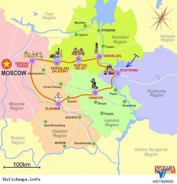 Kostroma - Chiếc thuyền lớn chở đầy kho báu trong chiếc nhẫn vàng