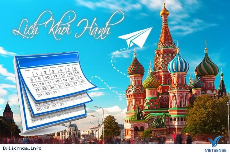Lịch khởi hành tour du lịch Nga đường bộ